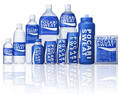 Pocari Sweat containers