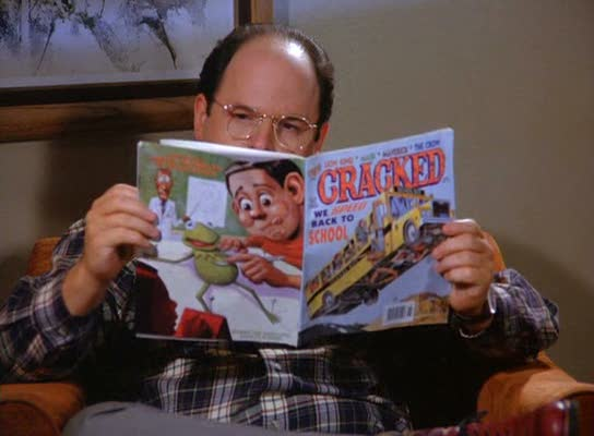 George Costanza reads a Cracked magazine