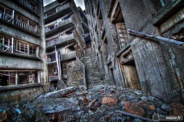 Infamous Gunkanjima Stairway To Hell
