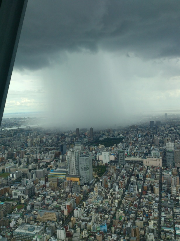 Guerrilla rainstorm' caught on camera from Tokyo Skytree