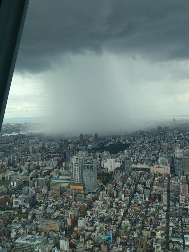 Guerrilla rainstorm' caught on camera from Tokyo Skytree