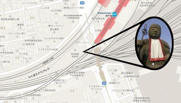 首切地蔵 kubikiri jizō Map
