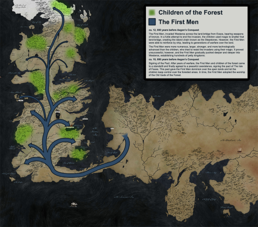 Game Of Thrones History Map 1