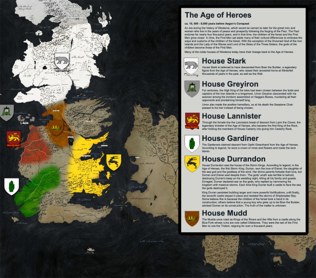 Game Of Thrones History Map 2