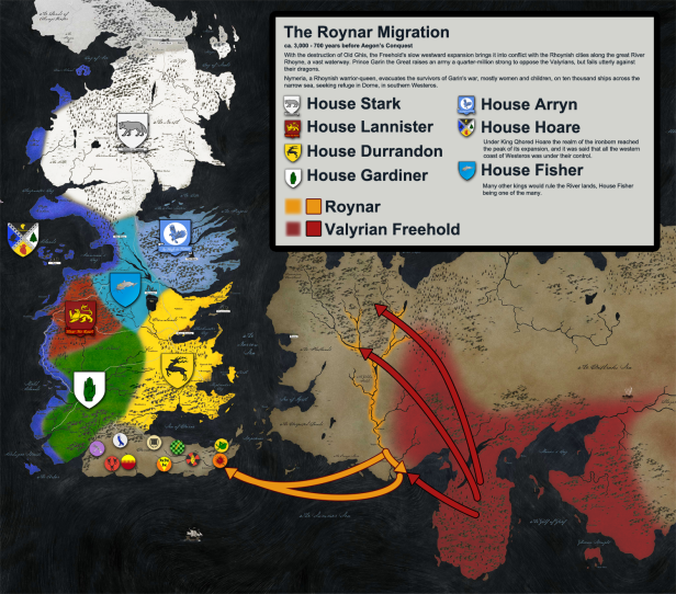Game Of Thrones History Map 5