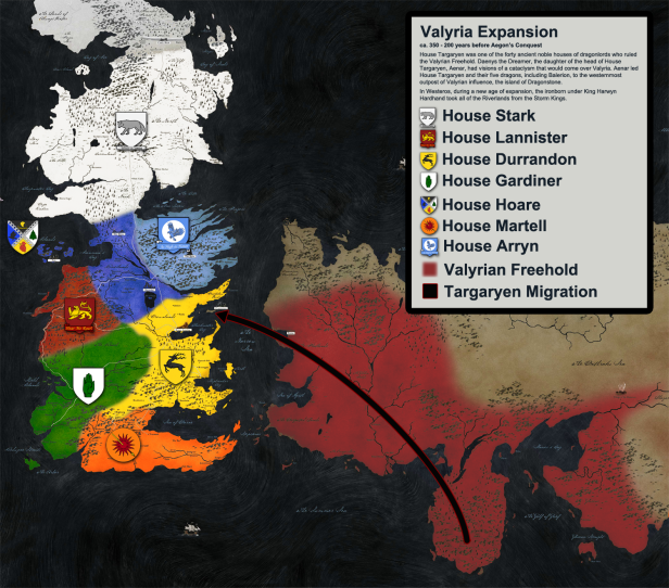 Game Of Thrones History Map 7
