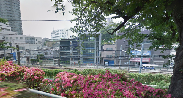 That building by the tracks in Gotanda